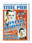 Vintage Frank Sinatra, Tommy Dorsey Steel Pier Poster from www.retrophilly.com
