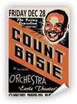 Vintage Count Basie at Philadelphia Earle Theater Poster from www.retrophilly.com
