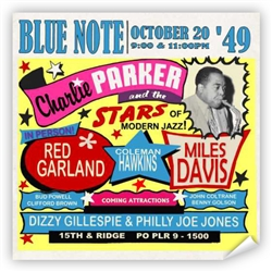 Vintage Charlie Parker at Philly Blue Note Poster from www.retrophilly.com