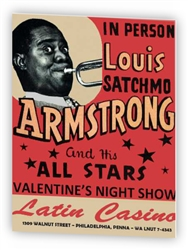 Vintage Louis Satchmo Armstrong at Philly Latin Casino Poster from www.retrophilly.com