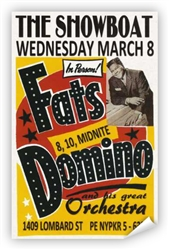 Vintage Fats Domino 1961 Philadelphia Showboat Poster from www.retrophilly.com