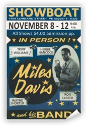 Vintage Miles Davis at Philadelphia Showboat Poster from www.retrophilly.com