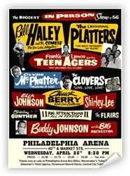 Vintage '56 Big Show at The Arena  Poster from www.retrophilly.com