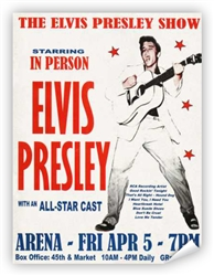 Vintage Elvis Presley Philly '57 Concert Poster from www.retrophilly.com