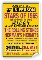 Vintage WIBG Rolling Stones 1965 Concert Poster from www.retrophilly.com