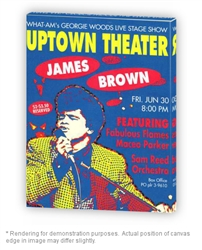 Vintage James Brown Philly Uptown Theater Poster from www.retrophilly.com