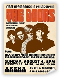 Vintage Doors at Philadelphia Arena '68 Poster from www.retrophilly.com