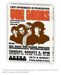 Vintage Doors Philadelphia Arena '68 Stretched Canvas Poster from www.retrophilly.com