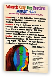 Vintage Atlantic City Pop Festival Poster from www.retrophilly.com