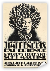 Vintage Jimi Hendrix at Philadelphia Arena Poster from www.retrophilly.com