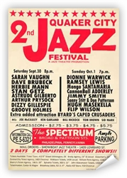 Vintage Quaker City Jazz Fest Poster from www.retrophilly.com