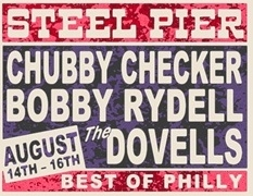 Vintage Bobby Rydell, Chubby Checker Steel Pier Poster from www.retrophilly.com