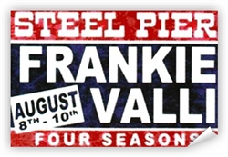 Vintage Frankie Valli & Four Seasons Steel Pier Poster from www.retrophilly.com