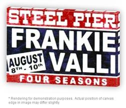 Vintage Frankie Valli Amp Four Seasons Steel Pier Poster