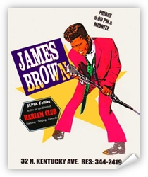 Vintage James Brown Club Harlem Atlantic City Poster from www.retrophilly.com