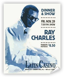 Vintage Ray Charles Latin Casino Poster from www.retrophilly.com