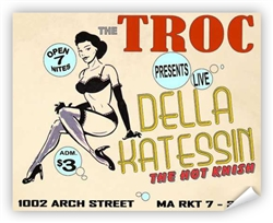Vintage Della Katessin at Philly Troc Burlesque Poster from www.retrophilly.com