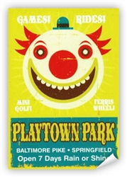 Vintage Playtown Park Baltimore Pike Poster from www.retrophilly.com