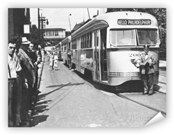 Hello Philadelphia Vintage Trolley Car Print from www.retrophilly.com