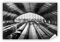 Vintage Reading Terminal Train Shed Print from www.retrophilly.com