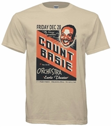 Vintage Count Basie at The Earle Philadelphia Tee from www.retrophilly.com