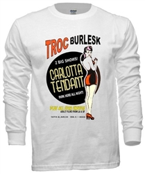 Vintage Carlotta Tendant Troc Burlesque T-Shirt from www.RetroPhilly.com