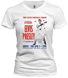 Vintage Elvis Presley Philadelphia Arena  1957 T-Shirt exclusively from www.retrophilly.com