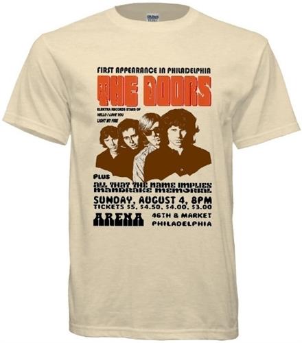 Vintage Doors Philadelphia Arena \u002768 T-Shirt  sc 1 st  RetroPhilly & Vintage Doors Philadelphia Arena \u002768 Concert T-Shirt - RetroPhilly.com