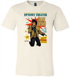 James Brown at Philadelphia's Uptown Theater t-shirt from www.retrophilly.com