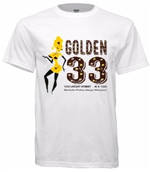 Vintage Philadelphia Golden 33 Go Go Bar T-Shirt from www.retrophilly.com