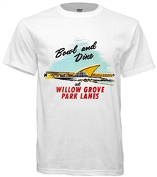 Vintage Willow Grove Park Lanes t-shirt from www.retrophilly.com
