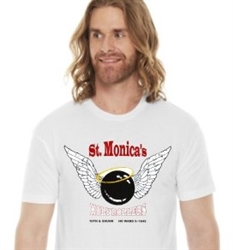Vintage St. Monica's South Philadelphia Bowling T-Shirt from www.retrophilly.com