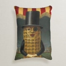 Vintage Atlantic City Mr Peanut Throw Pillow from www.retrophilly.com