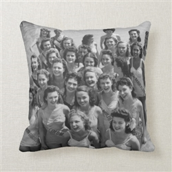 Vintage Atlantic City Miss Americas Throw Pillow from www.retrophilly.com