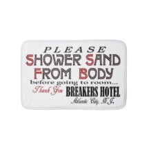 Vintage Breakers Hotel Bath Mat from www.retrophilly.com