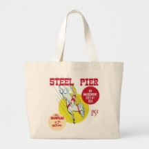 Vintage Steel Pier Atlantic City Beach Bag from www.retrophilly.com