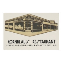 Vintage Kornblaus Atlantic City, New Jersey Placemat from www.retrophilly.com