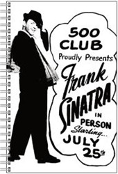 Vintage Frank Sinatra 500 Club Atlantic City Notebook from www.retrophilly.com