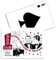 Vintage Frank Sinatra & Dean Martin at the 500 Club Playing Cards from www.retrophilly.com