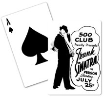Vintage Frank Sinatra at the 500 Club Playing Cards from www.retrophilly.com