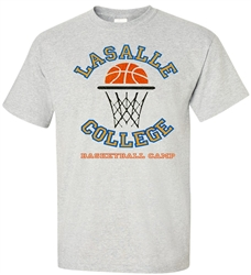 Vintage LaSalle College Basketball Camp Tee from www.RetroPhilly.com