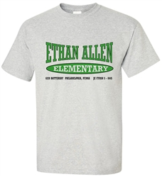 Vintage Ethan Allen Elementary Philadelphia Old School T-Shirt from www.RetroPhilly.com