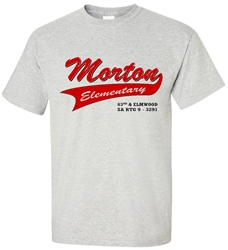 Vintage Morton Elementary Philadelphia old school T-Shirt from www.retrophilly.com