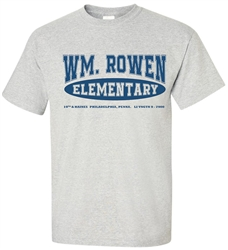 Vintage William Rowen Elementary School Philadelphia old school T-Shirt from www.retrophilly.com