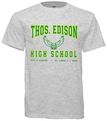 Edison High Philadelphia Old School T-Shirt from www.RetroPhilly.com