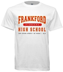 Frankford High Philadelphia Old School T-Shirt from www.retrophilly.com