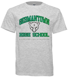 Germantown High Philadelphia Old School T-Shirt from www.retrophilly.com