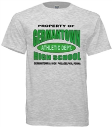 Germantown High Philadelphia Old School Athletics T-Shirt from www.retrophilly.com