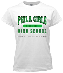 Philadelphia Girls High Old School T-Shirt from www.retrophilly.com