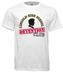 Lincoln High Philadelphia Old School Detention Club Tee from www.retrophilly.com